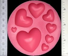 Hearts - Silicone Mould