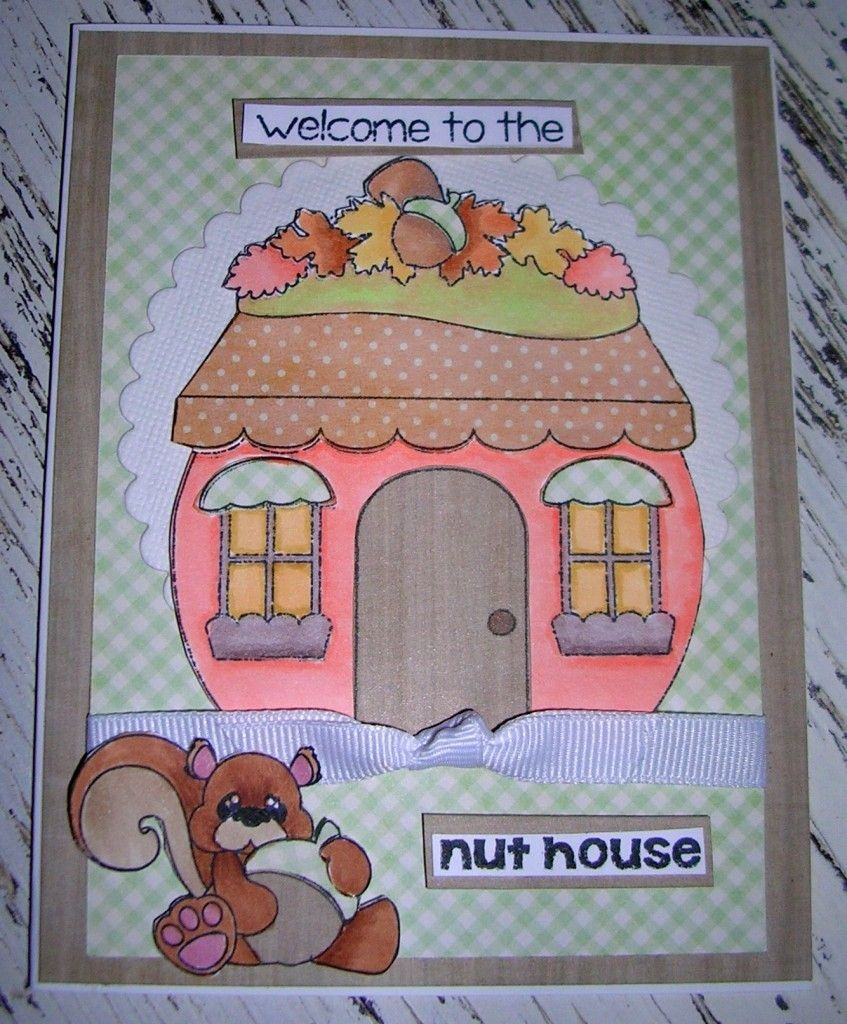 Nut house stamp set for Pecan house