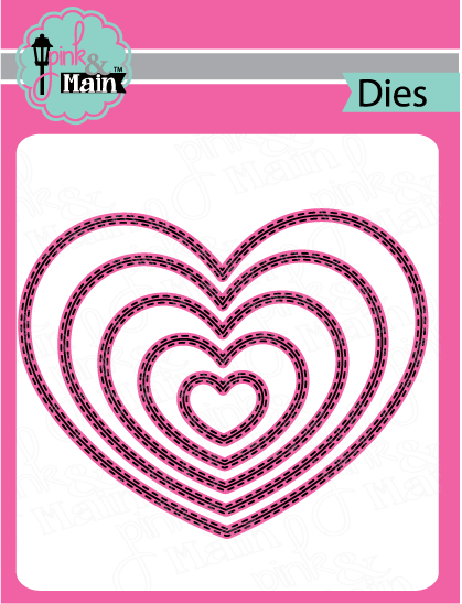 Double Stitched Heart - Die Set